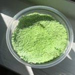 container of homemade green slime