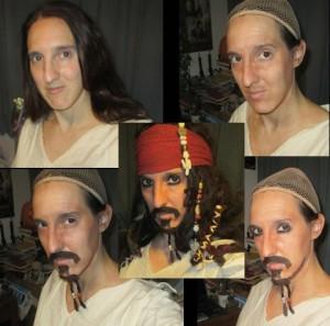 gypsy undergoing makeup