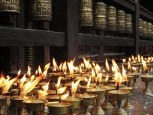candles symbolizing faith